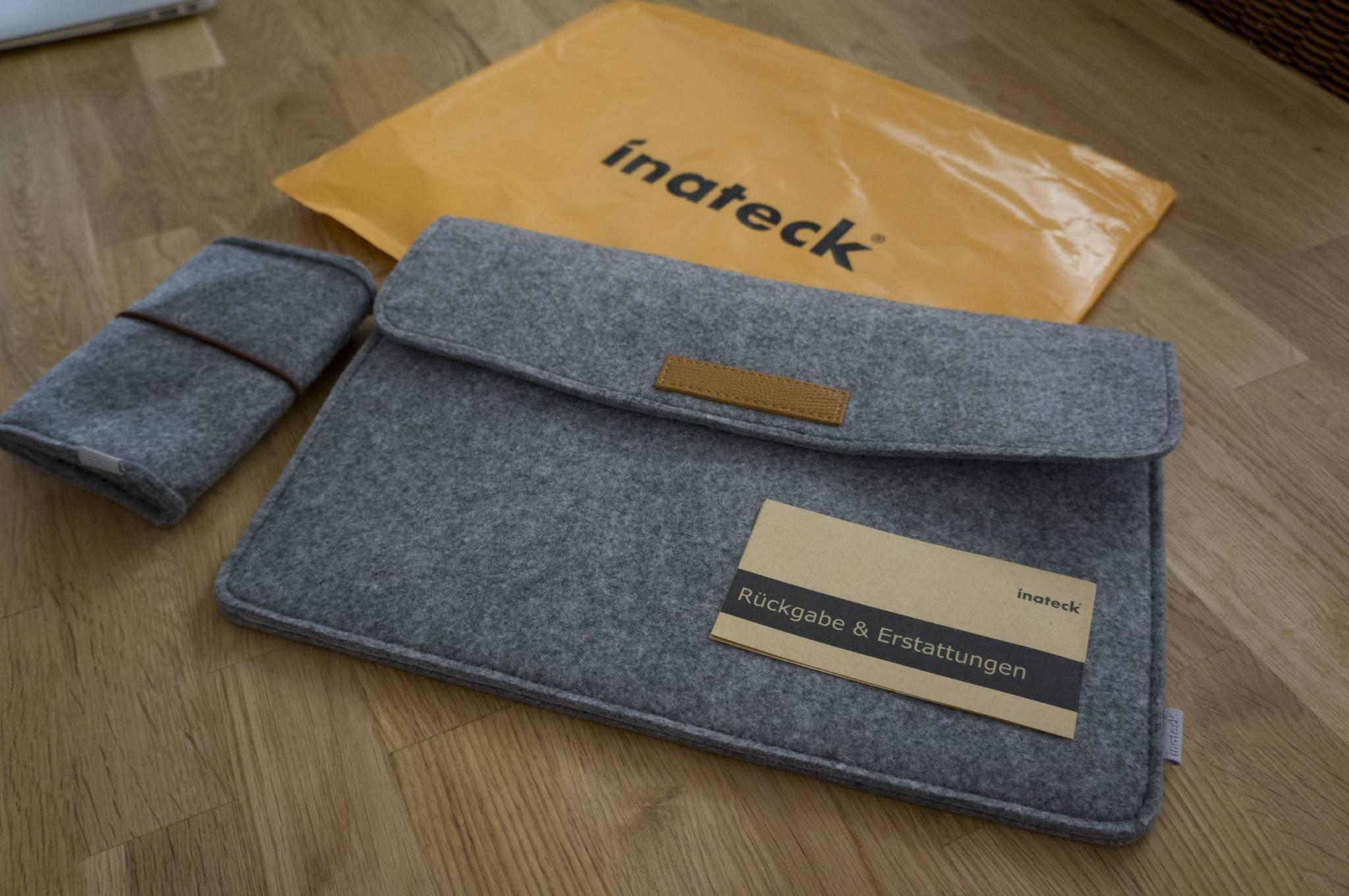 Erfahrungsbericht – Inateck Macbook Pro Retina 13.3″ Filz Sleeve